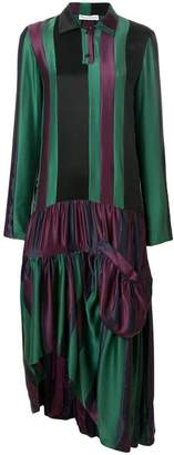J.W.Anderson hoop-skirt panelled dress