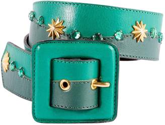 Saint Laurent Vintage Green Leather Belts