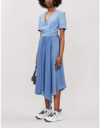969f9b41f Sandro Flared-skirt dupioni and satin dress