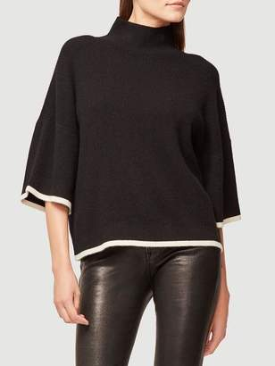 Frame Tipped Mock Cashmere Sweater