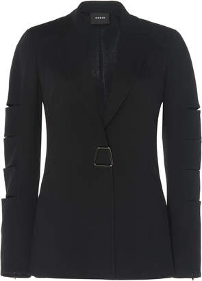 Akris Gina Slit-Sleeve Wool Jacket