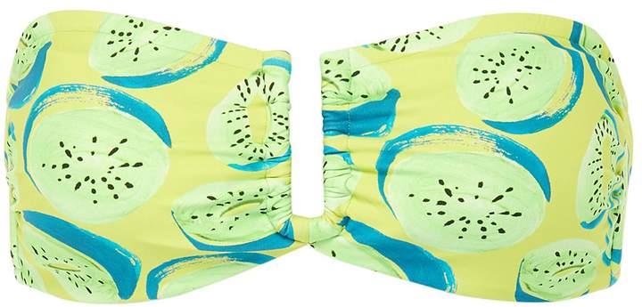 'Genevieve' kiwi print bandeau top