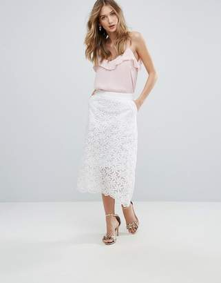 Traffic People Lace Midi Skirt