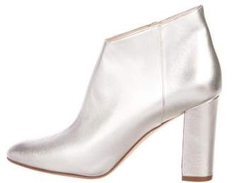 Manolo Blahnik Brusta Metallic Booties