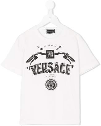 Versace (ヴェルサーチ) - Young Versace ロゴプリント Tシャツ