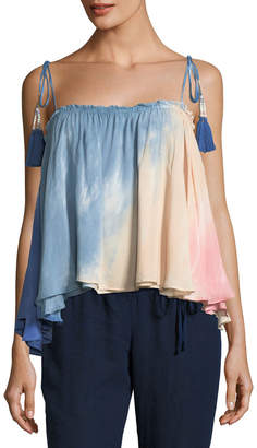 Young Fabulous And Broke Indi Tassel-Tie Ombre Swing Top