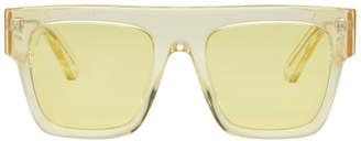 Stella McCartney Yellow Icy Ice Flat Top Sunglasses