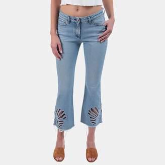 3x1 Freja Cropped Bell-Bottom Jeans in Elkhorn