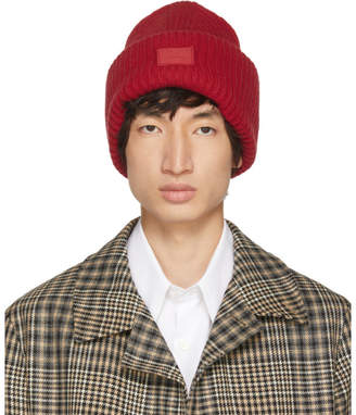 Acne Studios Red Pansy N Face Beanie