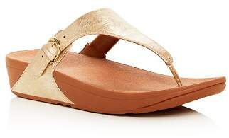 FitFlop Women's Skinny Leather Platform Thong Sandals