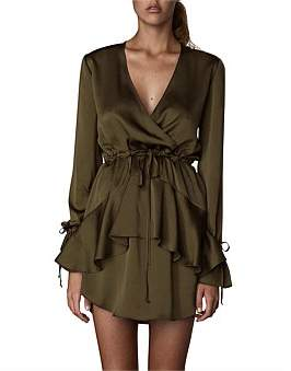 Shona Joy Tie Sleeve D/String Mini Dress