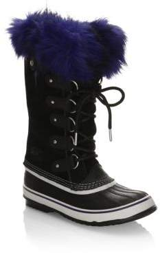 Sorel Joan Of Arctic Suede & Faux Fur Boots