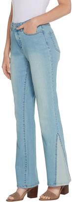 Denim & Co. Studio by Petite Classic Denim Jeans w/ Novelty Detail