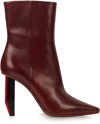 VETEMENTS Reflector-heel leather ankle boots $1,710 thestylecure.com