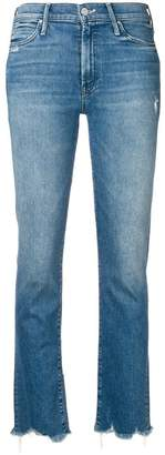 Mother frayed hem cropped jeans