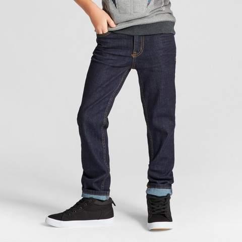Boys' Rinse Wash Skinny Jeans Dark Blue