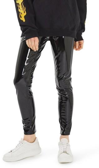TopshopWomen's Topshop Jamie Vinyl Skinny Jeans