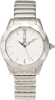 Just Cavalli JC1L003M0055 Rock Sangallo Silver-Tone Watch