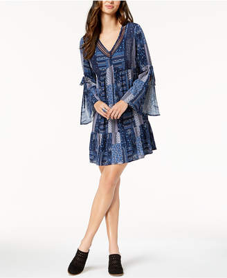 Style&Co. Style & Co Petite Printed Lantern-Sleeve Dress, Created for Macy's