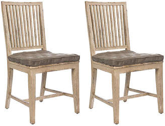 One Kings Lane Distressed Gray Staffan Chair - Set of 2