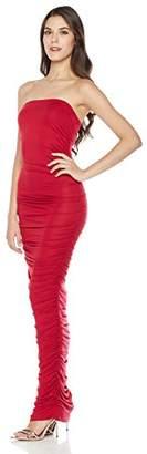 Mariella Bella Women's Strapless Ruched Bodycon Stretch Tube Dress