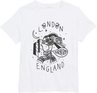 Burberry Check Boy Graphic T-Shirt