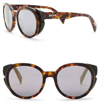 Just Cavalli Round 53mm Plastic Polarized Sunglasses