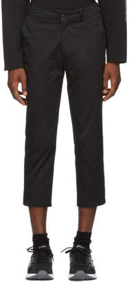 Wonders Black Twill Cropped Trousers