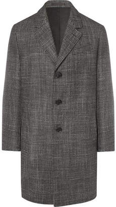 Caruso Prince Of Wales Checked Wool, Silk And Cashmere-Blend Coat