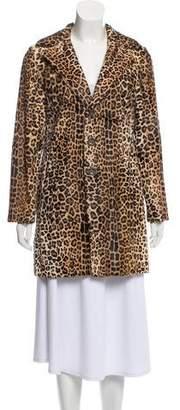 Saint Laurent Fur Animal Print Coat