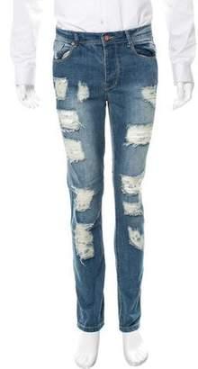 Stampd Distressed Five-Pocket Jeans
