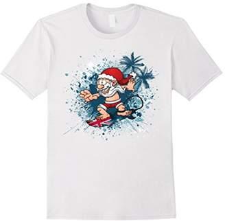 Santa Surfing Australia T-Shirt Summer Christmas Outfit