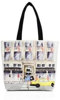 Saks Fifth Avenue Collection SaksStyle Store Front Canvas Tote