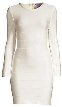 Herve Leger Women's Long Sleeve Bandage Dress