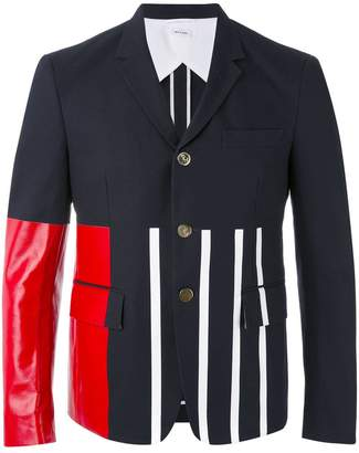 Thom Browne block panel cropped blazer