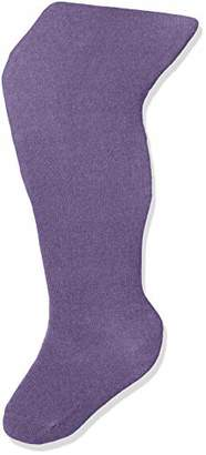 Melange Home Melton Girls' Basic Strumpfhose Tights, Purple 739), 23-26 (Herstellergröße: 3-4Y) UK