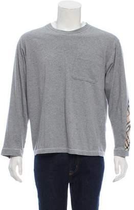 Burberry Nova-Check Trim Long Sleeve T-Shirt