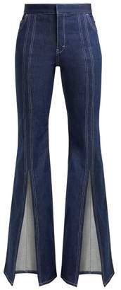Chloé High Rise Open Leg Flared Jeans - Womens - Denim