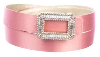 Roger Vivier Crystal Satin Belt Pink Crystal Satin Belt