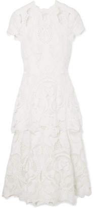 Jonathan Simkhai Guipure Lace Midi Dress - Ivory