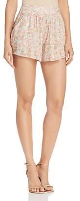 Aqua Grove Floral Print Shorts - 100% Exclusive