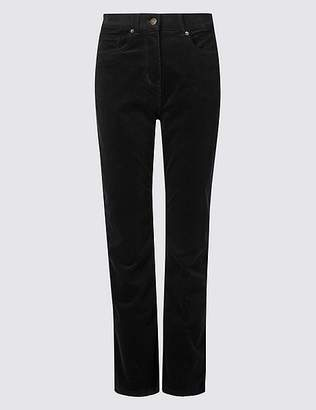 Marks and Spencer Corduroy Mid Rise Straight Leg Jeans