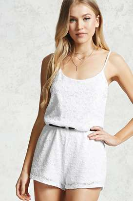 FOREVER 21+ Eyelet Crochet Cami Romper $14.90 thestylecure.com