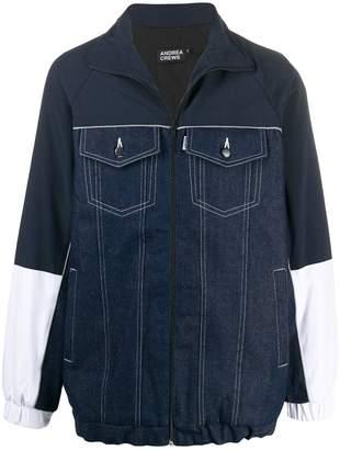 Andrea Crews zip-front shirt jacket