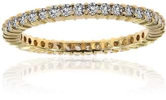 575 Denim 14K Yellow Gold & 0.56ct Diamond Wedding Eternity Band Ring Size