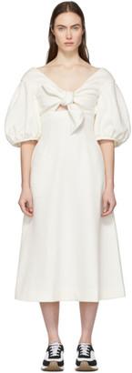 Edit White Tie Front A-Line Dress