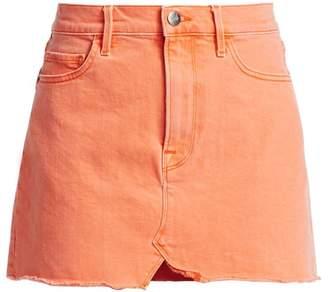 Frame Split Front Denim Mini Skirt