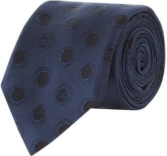Dolce & Gabbana Polka Dot Silk Jacquard Tie