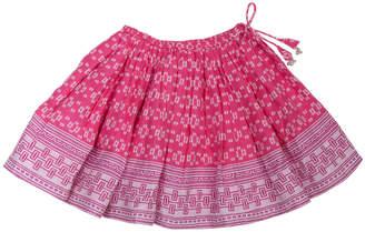 Lali Kids Border Print Twirly Cotton Skirt