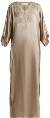 Icons Art Rose silk maxi dress